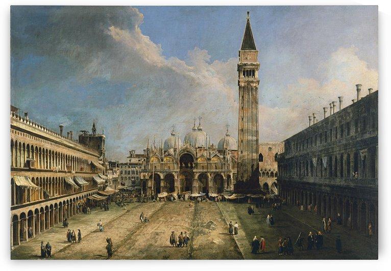 La plaza de San Marcos en Venecia by Canaletto