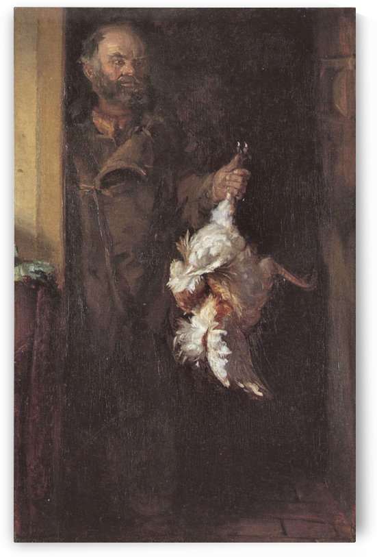 Bonatzi with cock by Anna Ancher by Anna Ancher