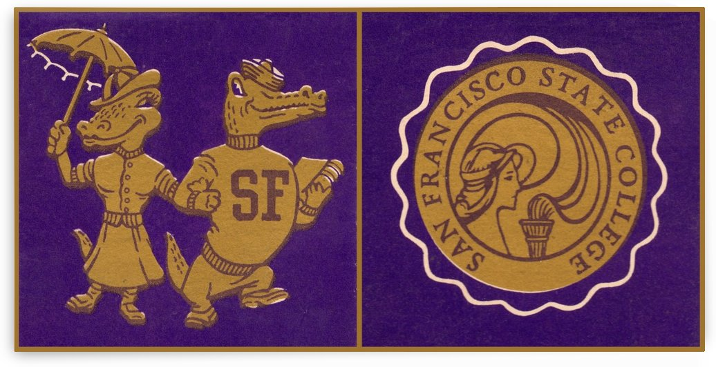 san francisco state university gators art vintage by Row One Brand