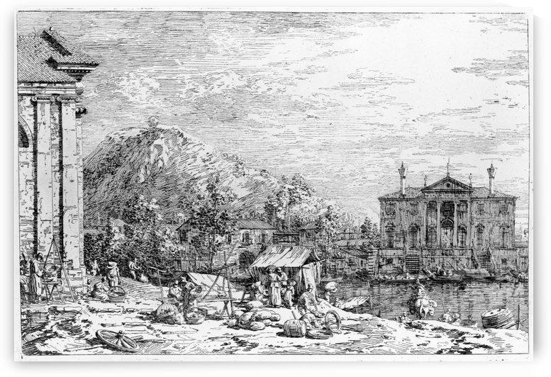Mercato Al Dolo by Canaletto