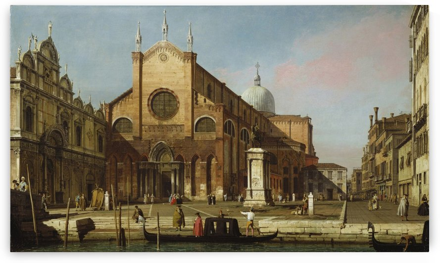 Venice - The Campo SS Giovanni e Paolo by Canaletto