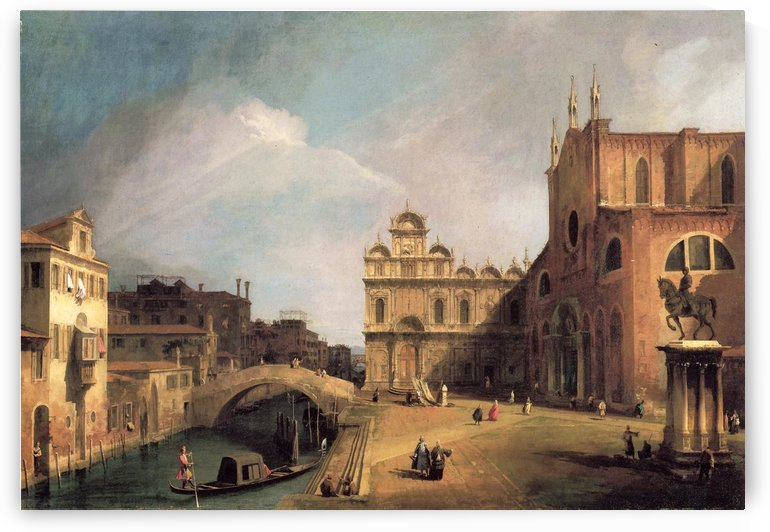 Santi Giovanni e Paolo and the Scuola di San Marco by Canaletto