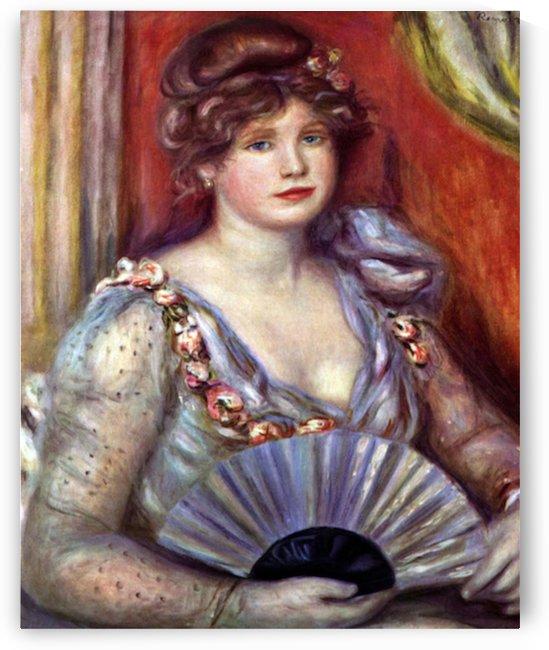 Lady with fan by Renoir by Renoir