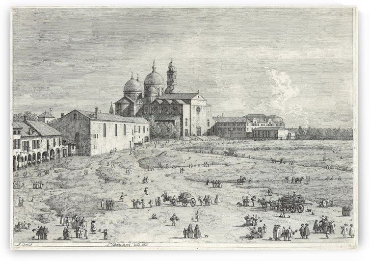 Santa Giustina in Pra della Vale by Canaletto