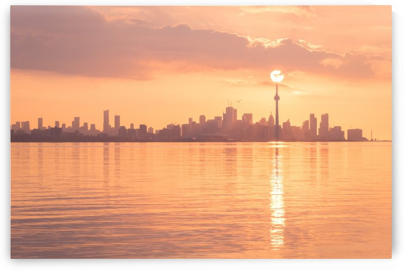 Holding Up the Sun - Perfectly Timed Rose Gold Sunrise Over Toronto by GeorgiaM