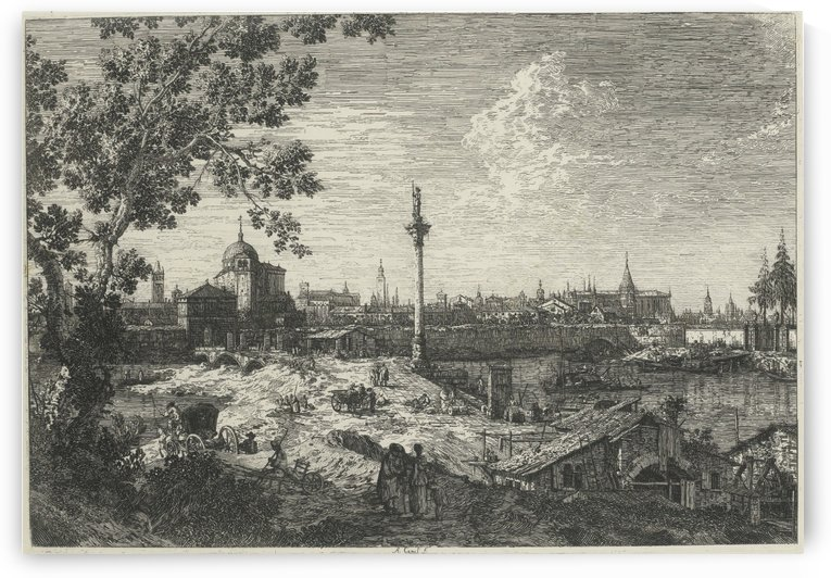 Imagianry view of Padua by Canaletto