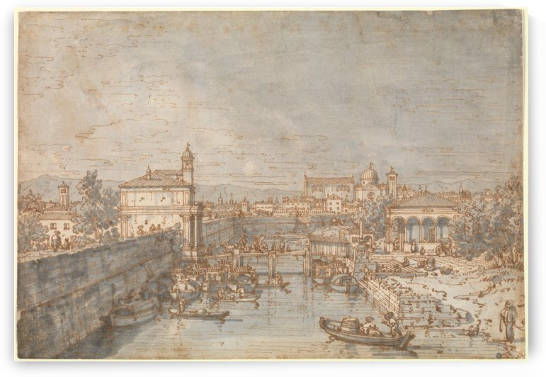 Padua - The River Bacchiglione and the Porta Portello by Canaletto