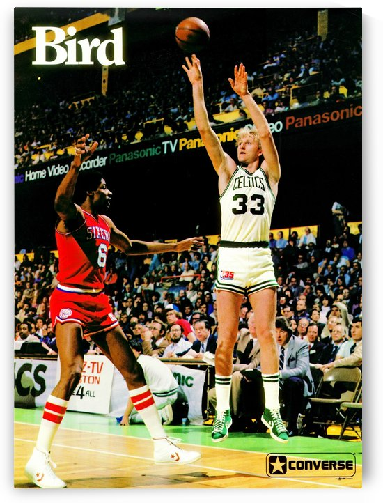 1981 Boston Celtics Larry Bird Converse Poster Reproduction by Row One Brand by Row One Brand