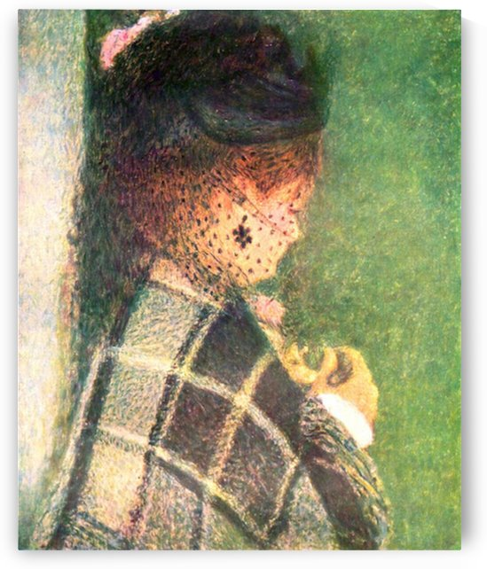 Lady with veil by Renoir by Renoir