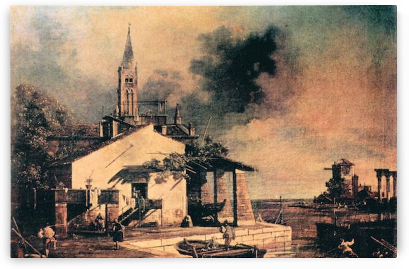 Lagoon landscape by Canaletto by Canaletto