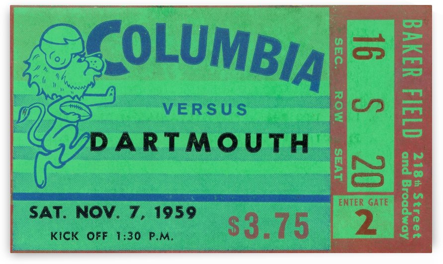 1959 columbia lions football by Row One Brand