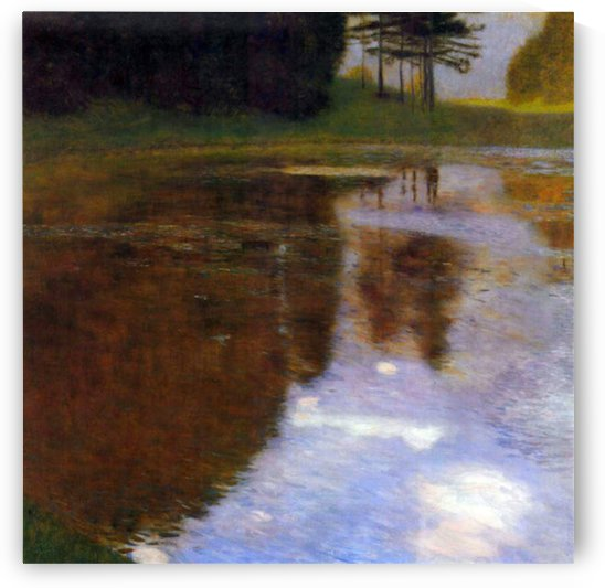 Lake in front of the Castle by Klimt by Klimt