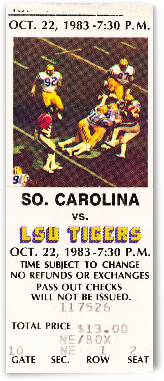 1983 lsu tigers football by Row One Brand