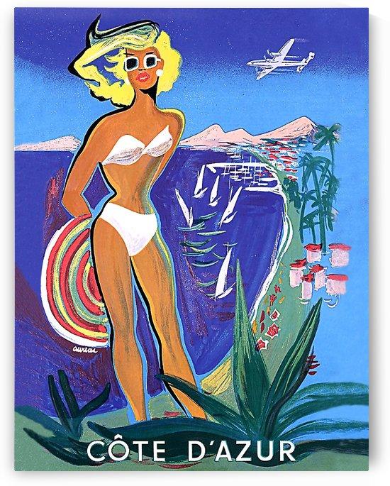 French Riviera Sunbath by vintagesupreme