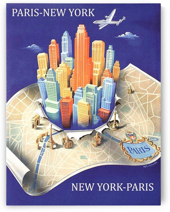 Paris New York Flight by vintagesupreme