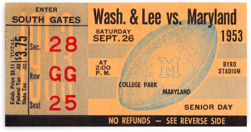 1953 maryland football byrd stadium by Row One Brand