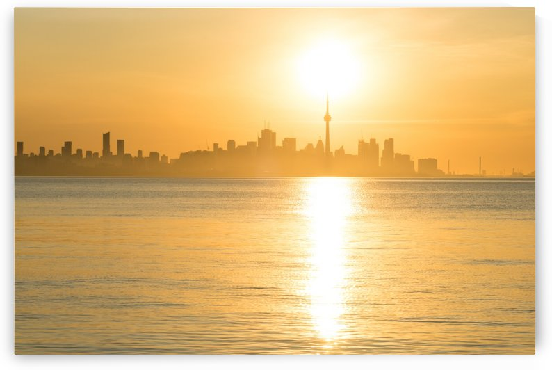 Holding Up the Sun - Toronto Sunrise in Brilliant Gold by GeorgiaM