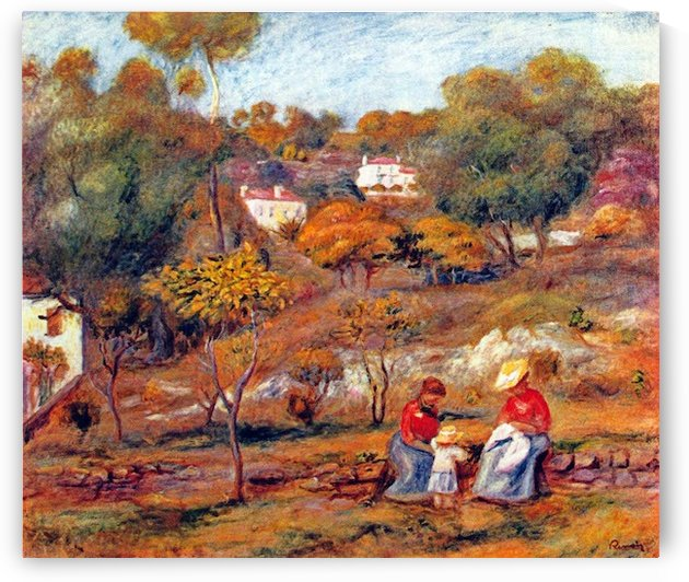 Landscape at Cagnes by Renoir by Renoir