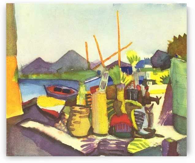 Landscape at Hammamet by Macke by Macke