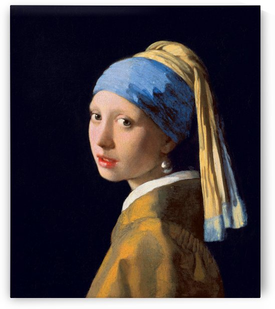 Johannes Vermeer: Girl with a Pearl Earring HD 300ppi by Famous Paintings