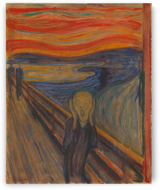 Edvard Munch: The Scream HD 300ppi by Stock Photography