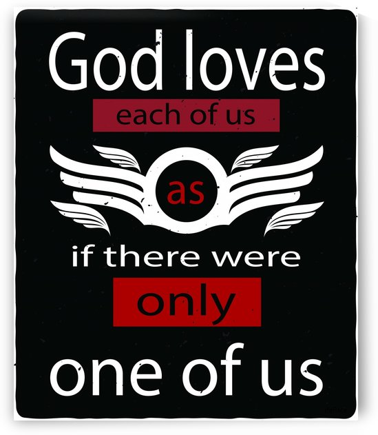 GOD loves each of us as if by dePace-