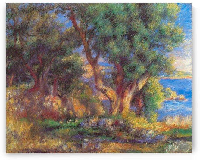 Landscape in Menton by Renoir by Renoir