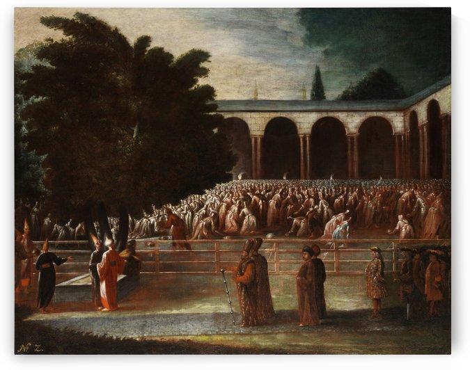 Botschaftsgesandte zur Audienz beim Sultan by Jean Baptiste Vanmour