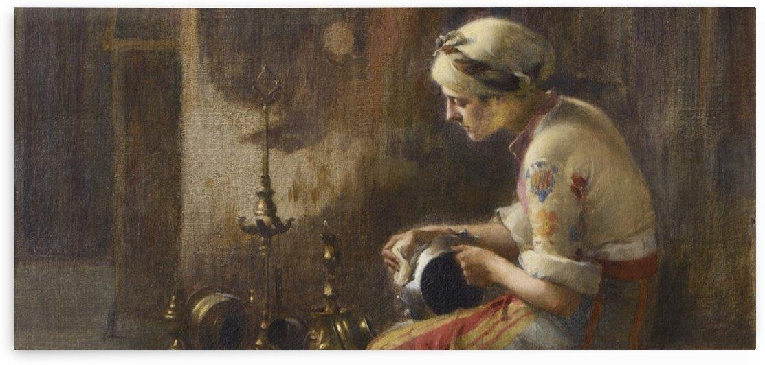 Oriental woman by Jean Baptiste Vanmour