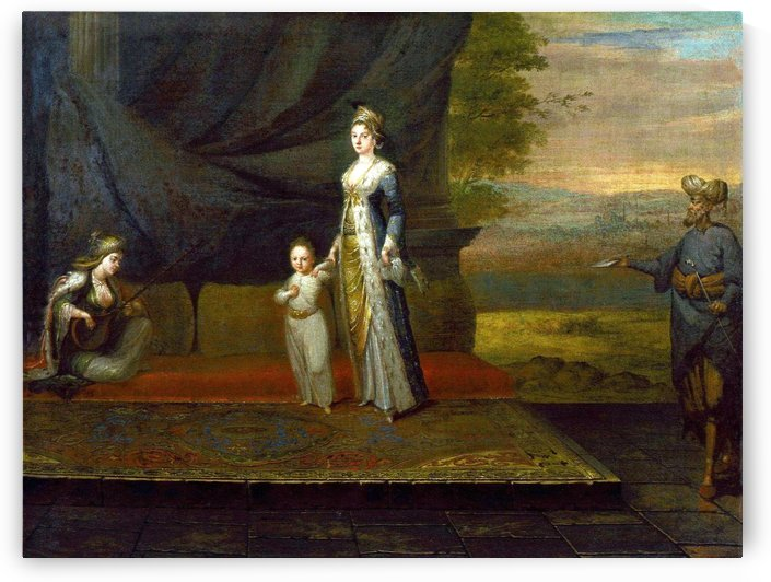 Lady Mary Wortley Montagu with her son, Edward Wortley Montag by Jean Baptiste Vanmour