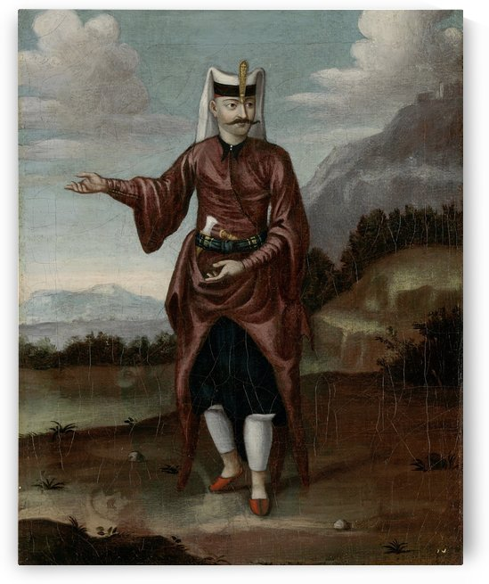 Janissary in ceremonial dress by Jean Baptiste Vanmour