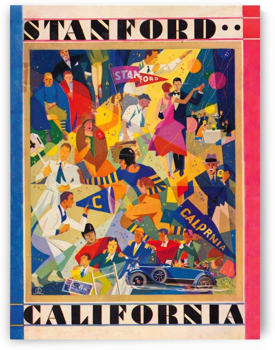 1928 cal stanford football program cover artwork for walls by Row One Brand