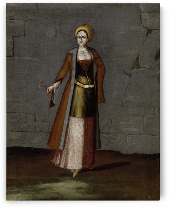 Tinos lady by Jean Baptiste Vanmour