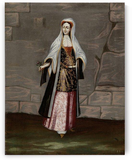 Mykonos lady by Jean Baptiste Vanmour