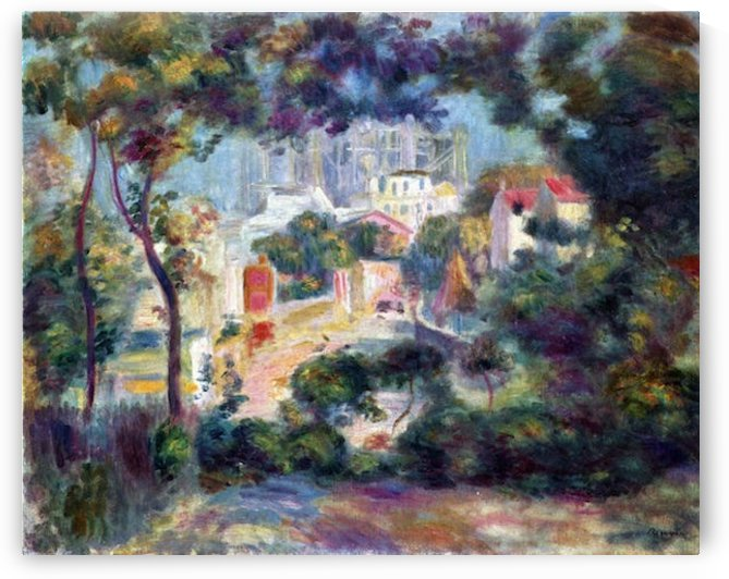 Landscape with a view of the Sacred Heart by Renoir by Renoir