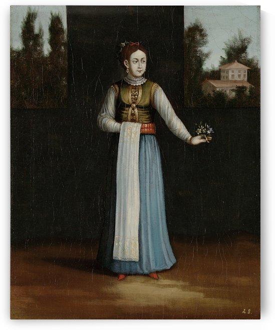 Albanian lady by Jean Baptiste Vanmour