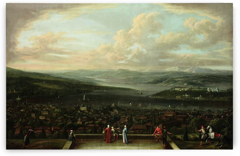 View of Istanbul from the Dutch Embassy by Jean Baptiste Vanmour