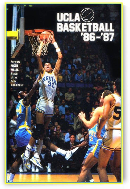 1986 UCLA Bruins Basketball Reggie Miller Poster by Row One Brand