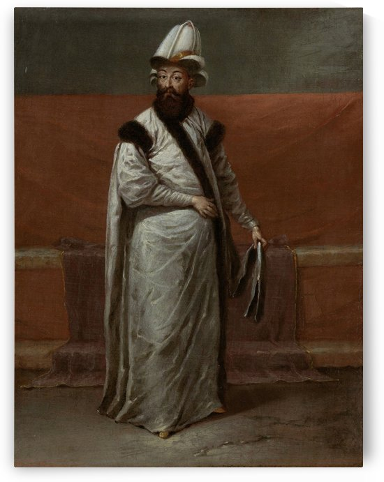The grand vizier Nevsehirli Damat Ibrahim Pasa by Jean Baptiste Vanmour