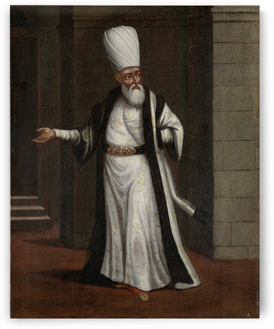 The Yeniceri Agası, or commander of Janissaries by Jean Baptiste Vanmour