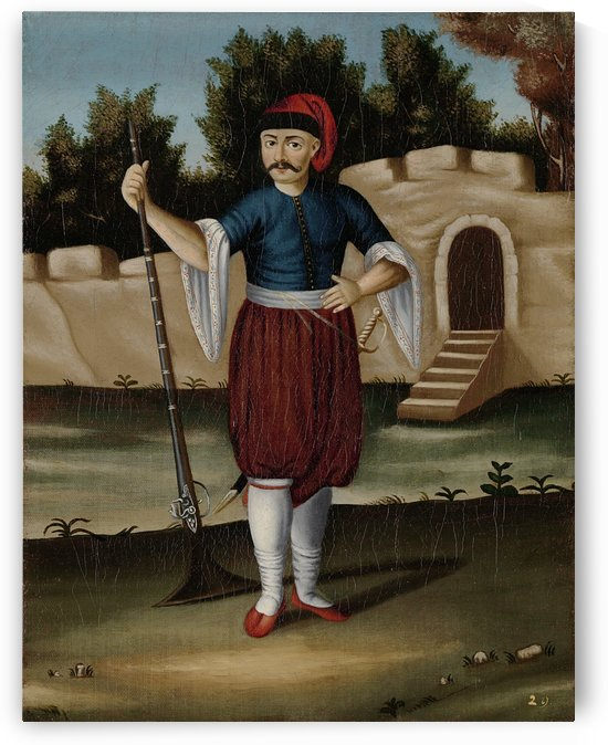 Albanian Soldier, Arnaut by Jean Baptiste Vanmour