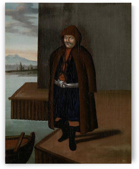 Patmos man by Jean Baptiste Vanmour