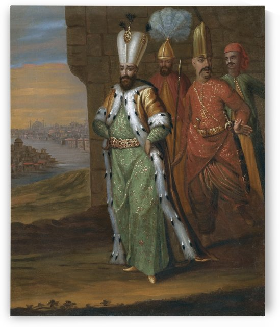 Ahmed III and his retinue by Jean Baptiste Vanmour