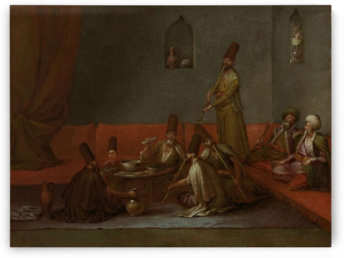 Dervishes Sharing a Meal by Jean Baptiste Vanmour
