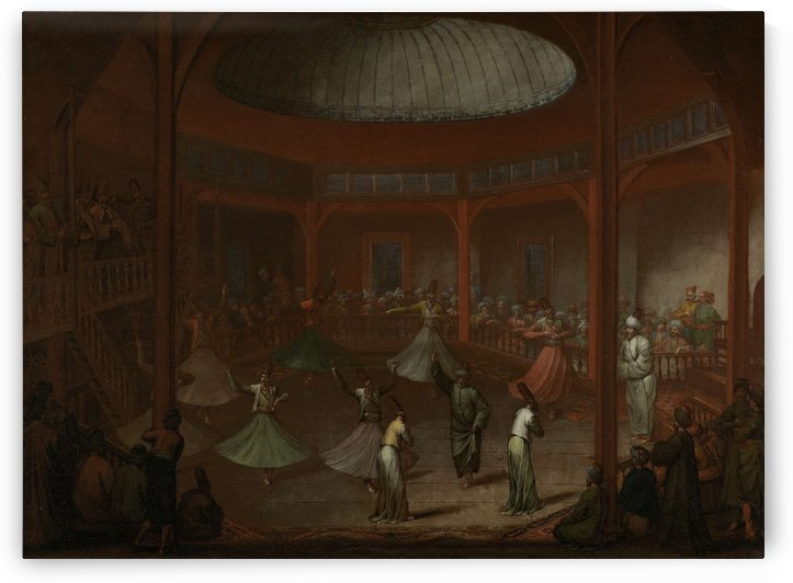 Whirling Dervishes by Jean Baptiste Vanmour