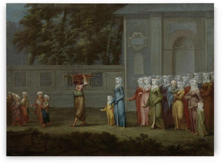 The first school day by Jean Baptiste Vanmour