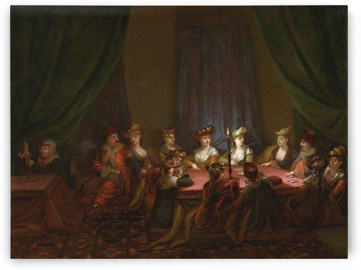 Armeens gezelschap bij het kaartspel by Jean Baptiste Vanmour