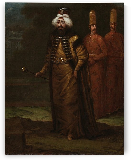 Portrait of Sultan Ahmed III by Jean Baptiste Vanmour