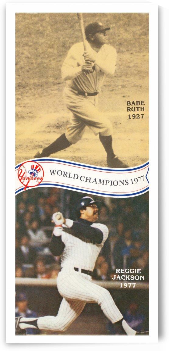 1977 MLB New York Yankees Babe Ruth Reggie Jackson Poster by Row One Brand