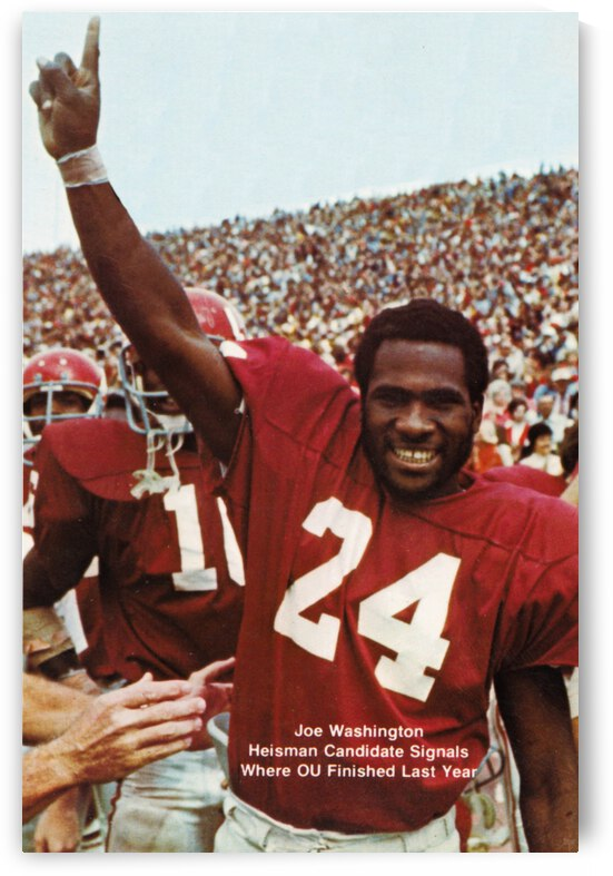 1974 oklahoma sooners football national champions poster sports wall art by Row One Brand